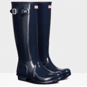 Hunter Original Tour navy Rain boots